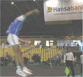 Photo d'un joueur en smatch au volley